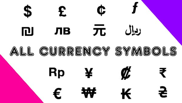 All Currency Symbols